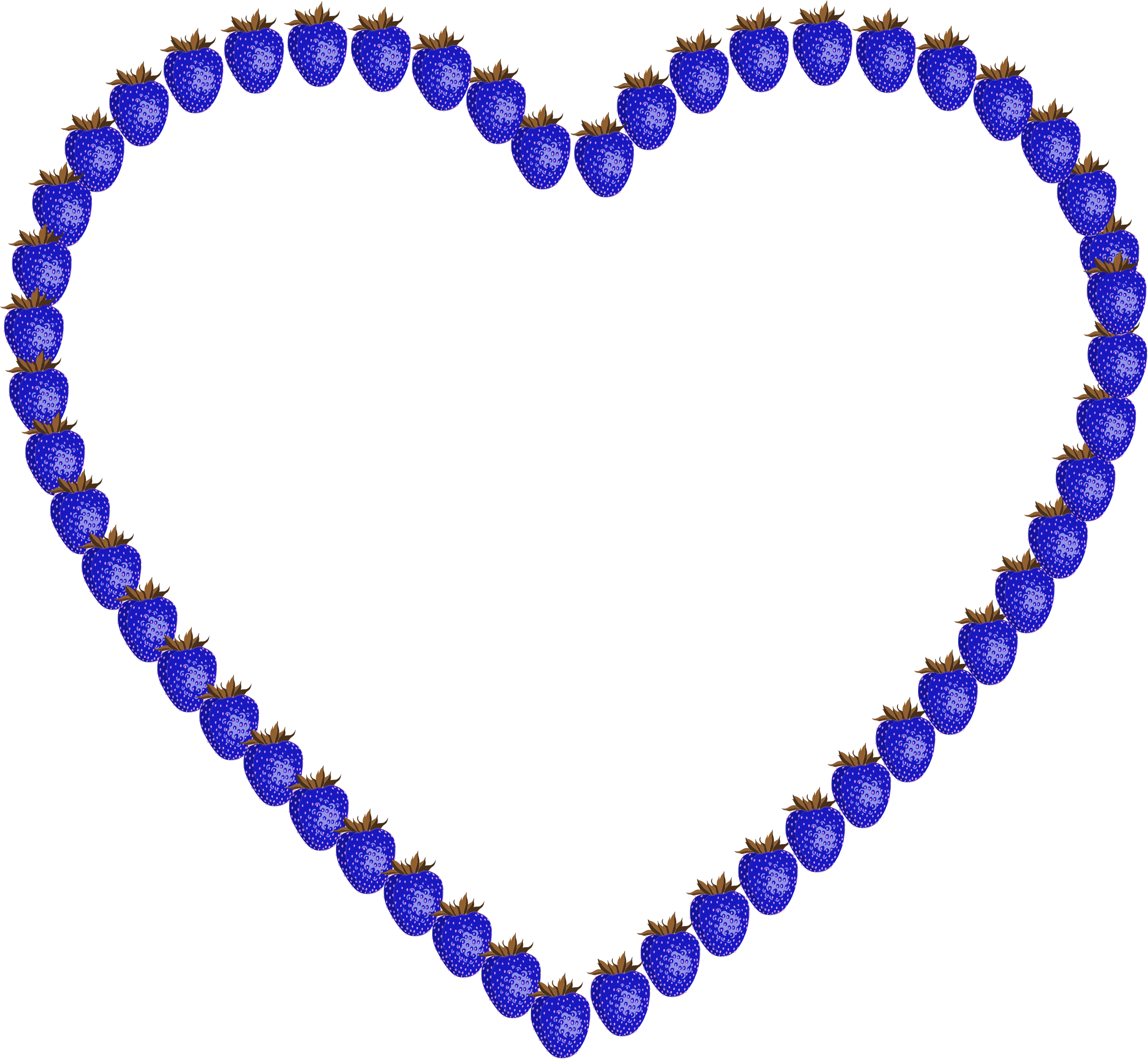 Heart clipart blue svg freeuse library Clipart - Blue Strawberry Heart svg freeuse library