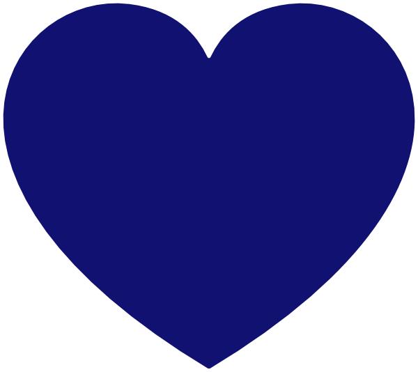 Heart clipart blue banner royalty free Blue Heart Clip Art at Clker.com - vector clip art online, royalty ... banner royalty free
