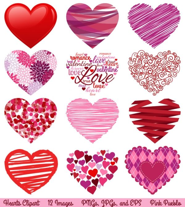 Heart clipart designs free library Heart Clip Art - Luvly Marketplace | Premium Design ... free library