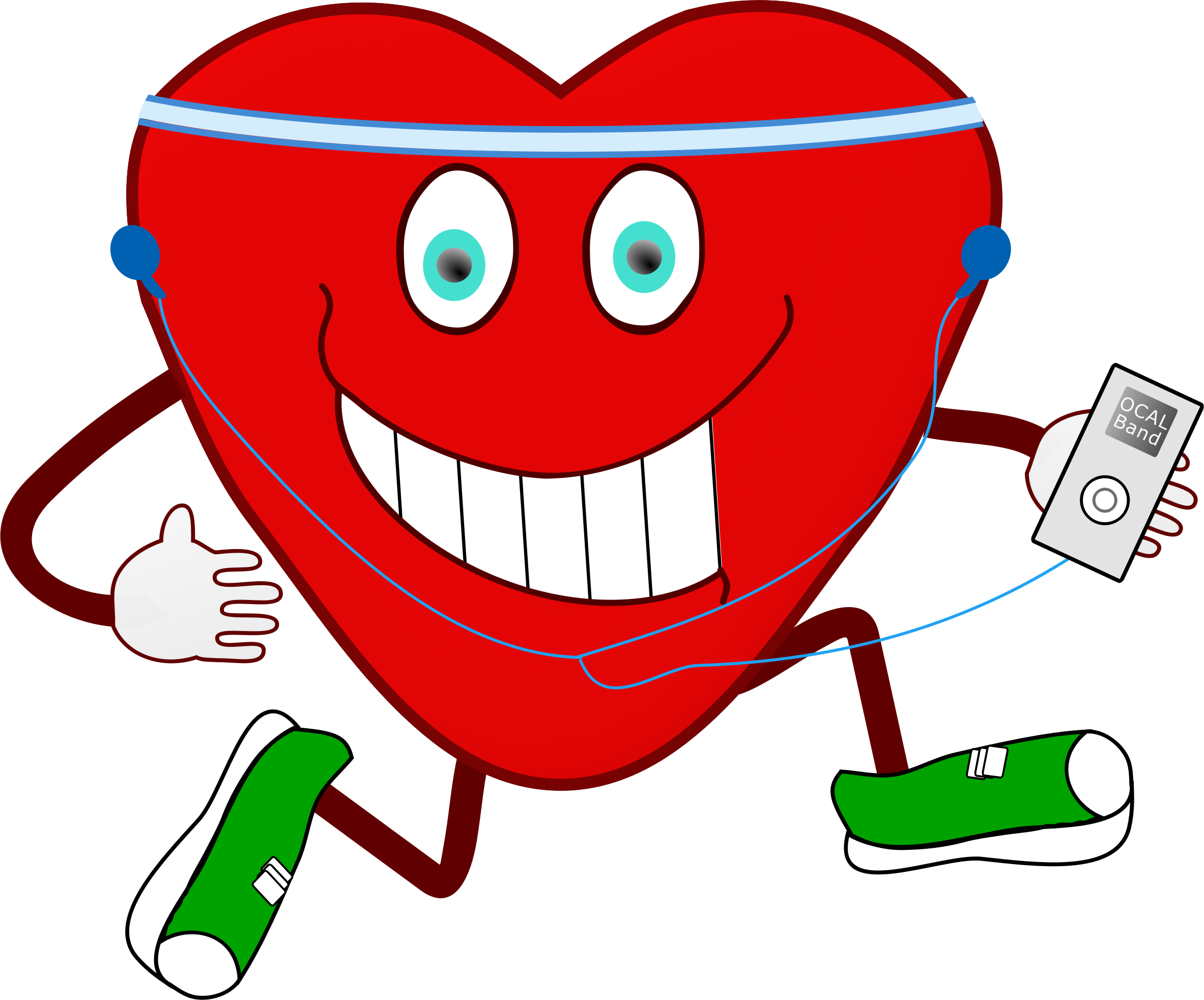 Heart exercising clipart royalty free stock Clipart - Jogging Heart royalty free stock