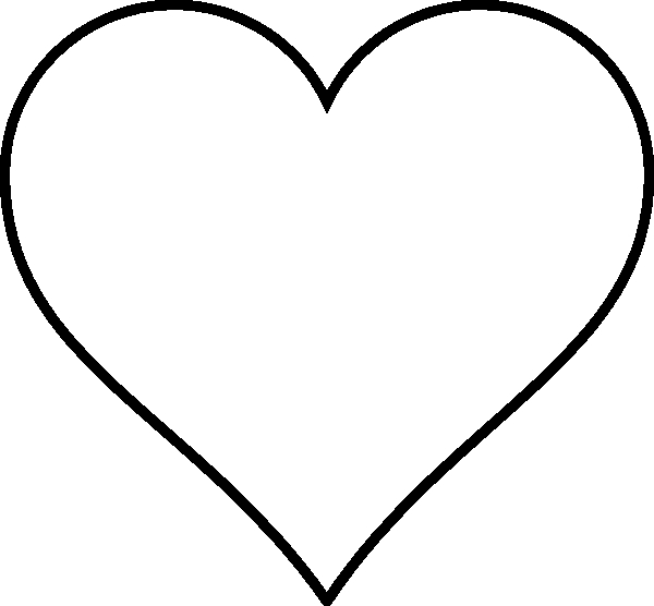 Heart clipart for kids black and white png black and white download Heart Black Clipart | Free download best Heart Black Clipart ... png black and white download