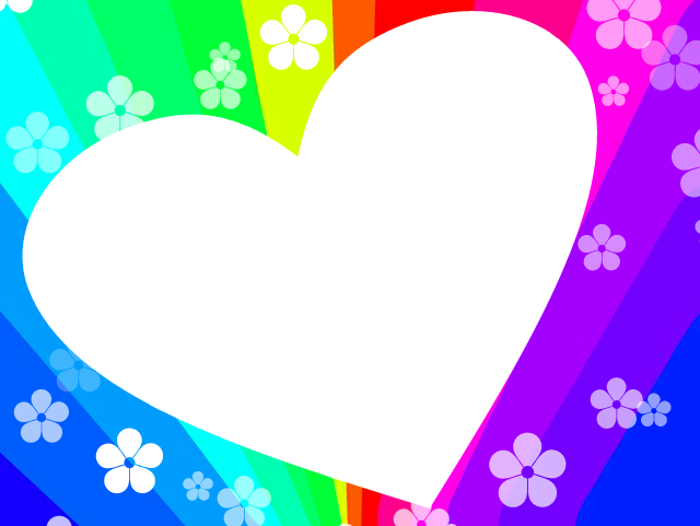 Heart clipart frame jpg download Heart Rainbow Frame by Kreatie-Katie on DeviantArt jpg download