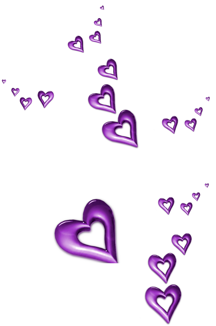 Heart clipart purple jpg black and white library Purple Decorative Hearts Ornaments PNG Clipart | Gallery ... jpg black and white library