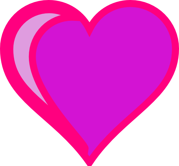 Heart clipart purple graphic download Purple Heart Clip Art at Clker.com - vector clip art online, royalty ... graphic download