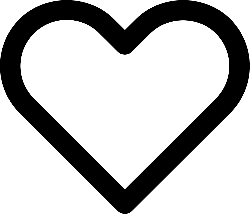 Heart clipart svg svg free library Heart Hollow Svg Png Icon Free Download (#138411) - OnlineWebFonts.COM svg free library
