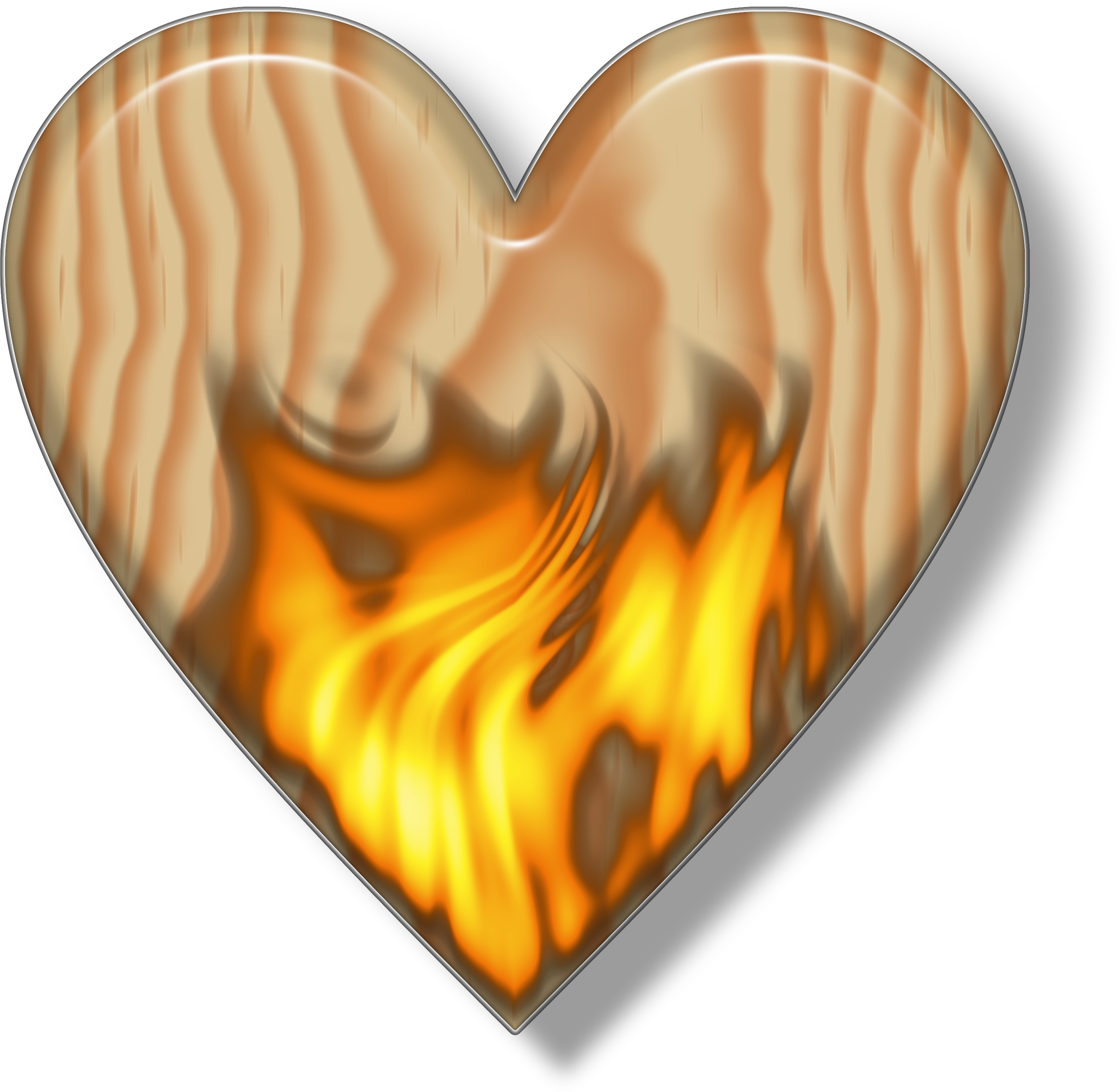 Heart clipart vector picture freeuse Wooden heart clipart - Clipground picture freeuse