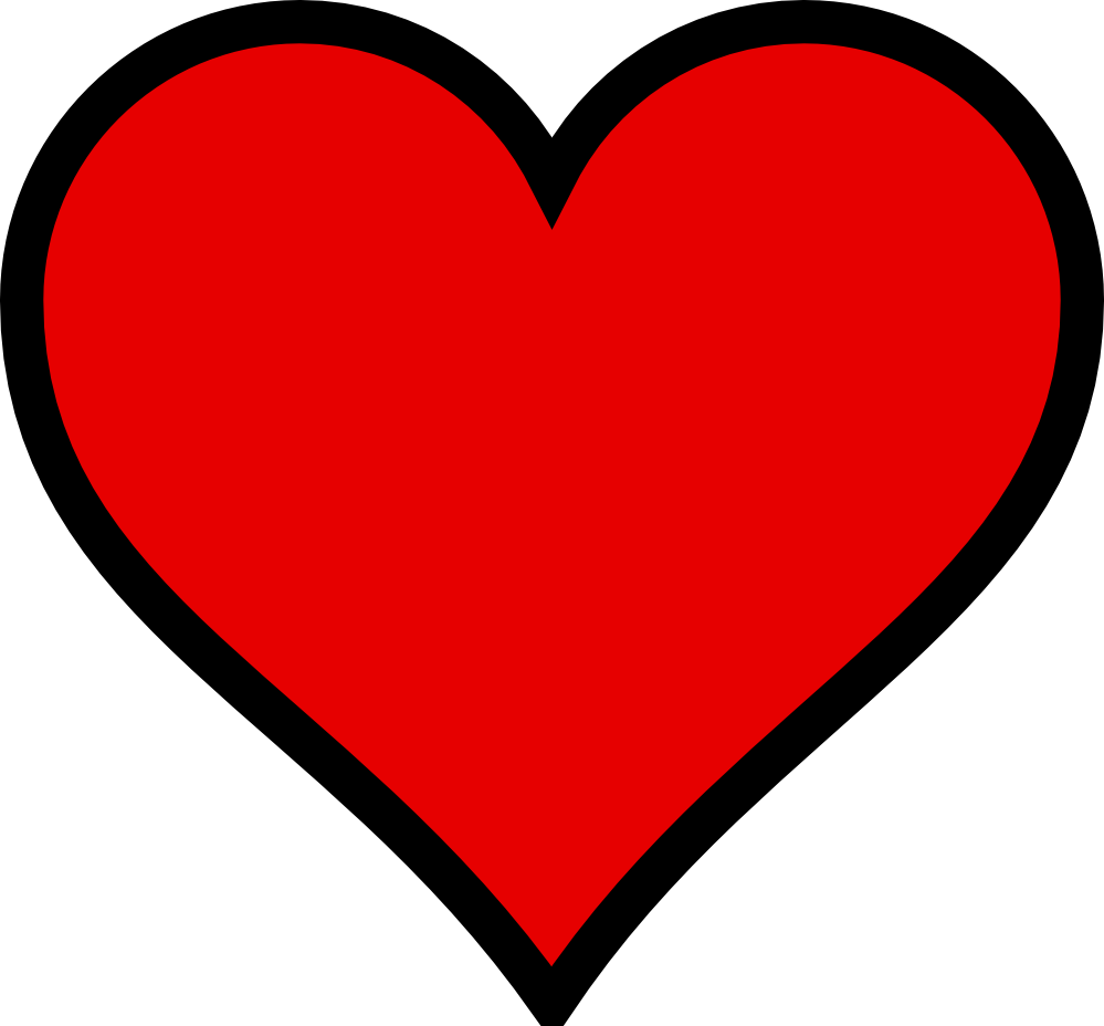 Vector heart clipart vector freeuse Heart vector graphic clipart best - Clipartable.com vector freeuse