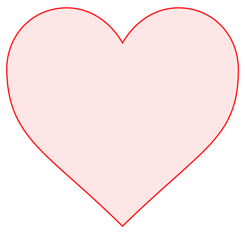 Heart clipart vector freeuse download Pink Heart Outline | Free download best Pink Heart Outline on ... freeuse download