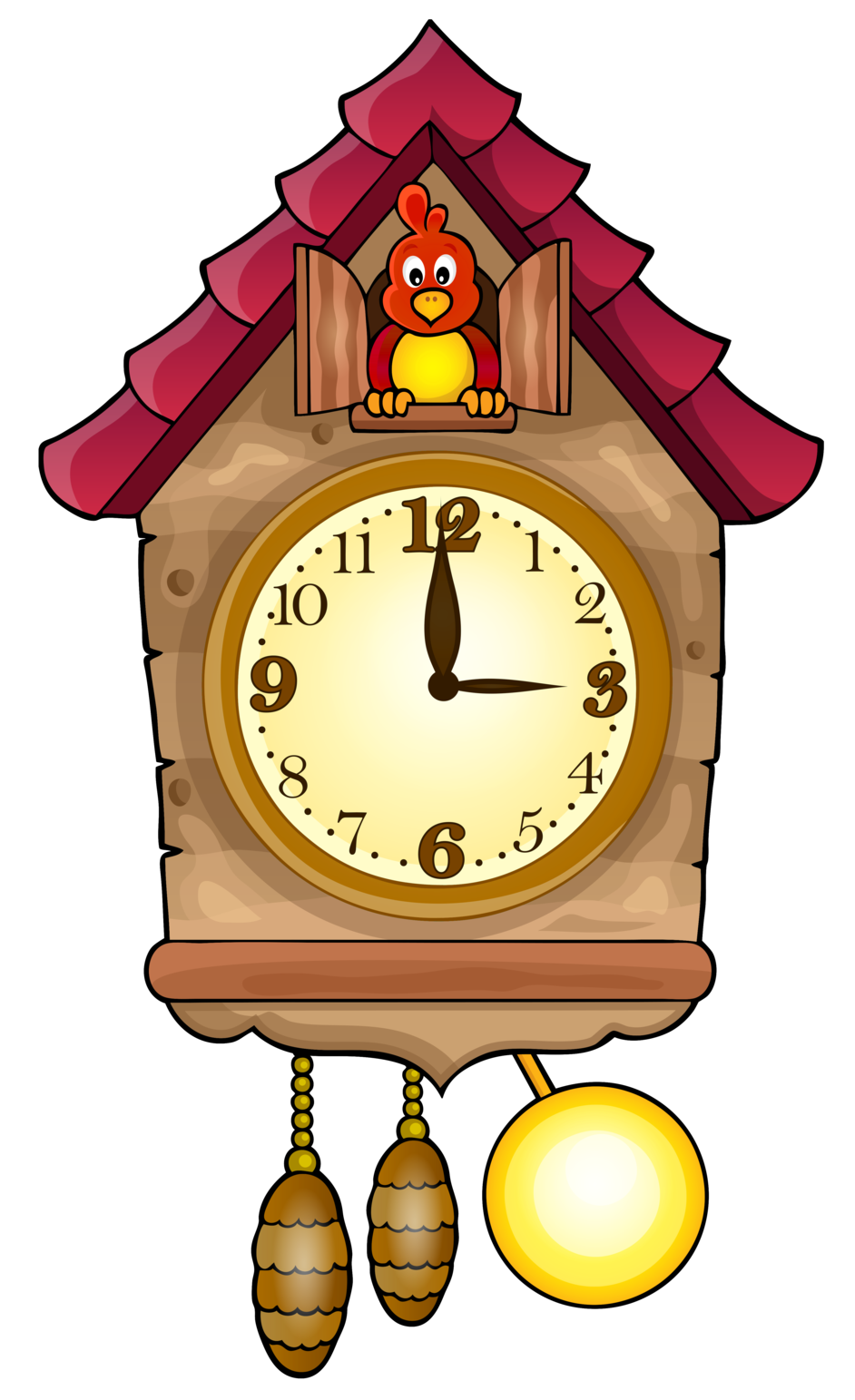 Heart clock clipart picture library Cute Cuckoo Clock PNG Clip Art picture library