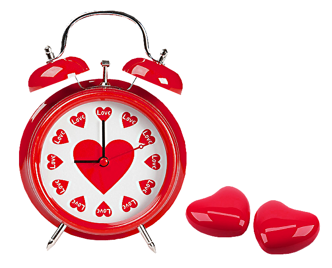 Heart clock clipart clip free stock Red Hearts Love Clock PNG Clipart | Gallery Yopriceville - High ... clip free stock