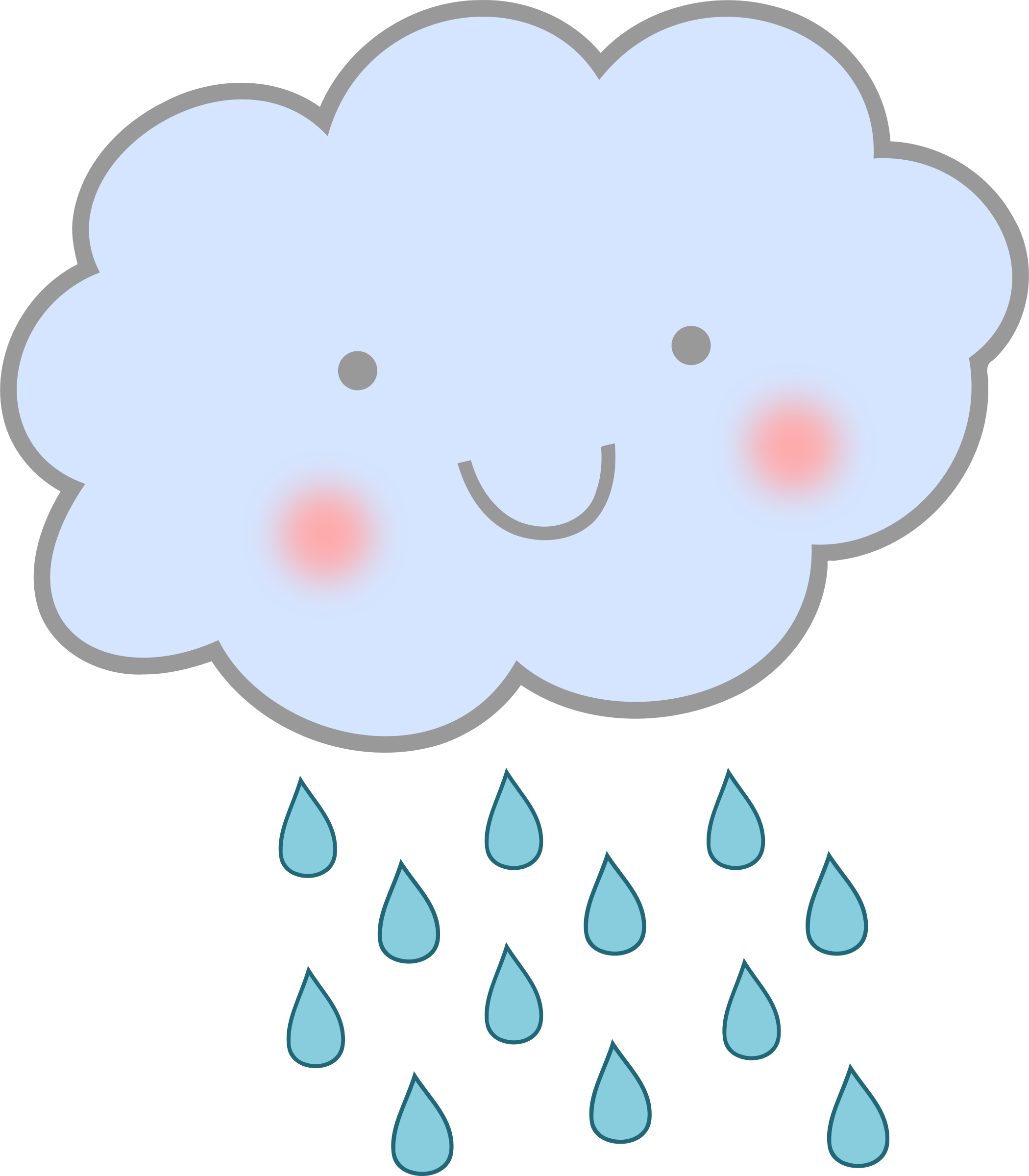 Heart cloud clipart clip art royalty free download Cute-Rain-Cloud.png (2100×2400) | Weather pics | Pinterest | Rain ... clip art royalty free download