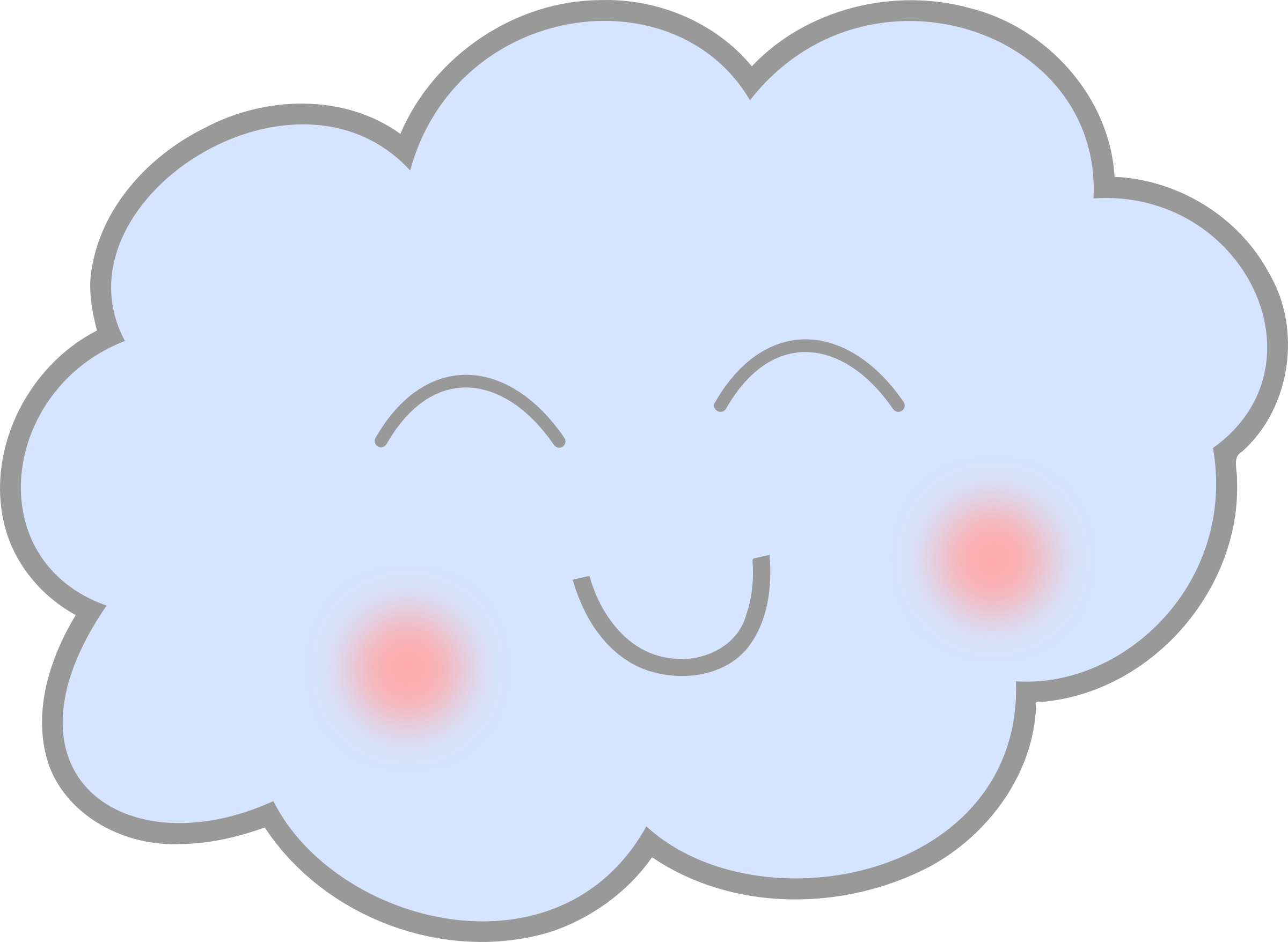 Heart cloud clipart png library Clipart - Happy Cloud png library
