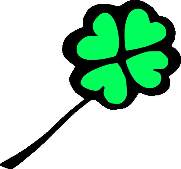 Heart clover clipart png transparent Four Leaf Clover Clip Art at Clker.com - vector clip art online ... png transparent