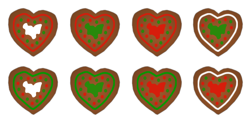 Heart shaped cookie clipart freeuse stock Clipart - Assorted Gingerbread Heart Cookies freeuse stock