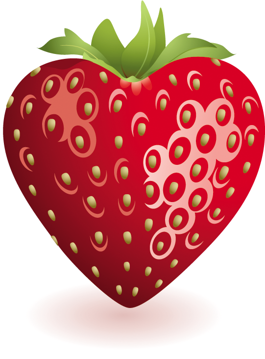 Heart plant clipart transparent Heart Strawberry Clipart | Gallery Yopriceville - High-Quality ... transparent