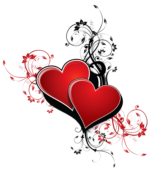 Heart corner clipart image freeuse Hearts with Decor PNG Clipart Picture | Valentine's Day | Pinterest ... image freeuse