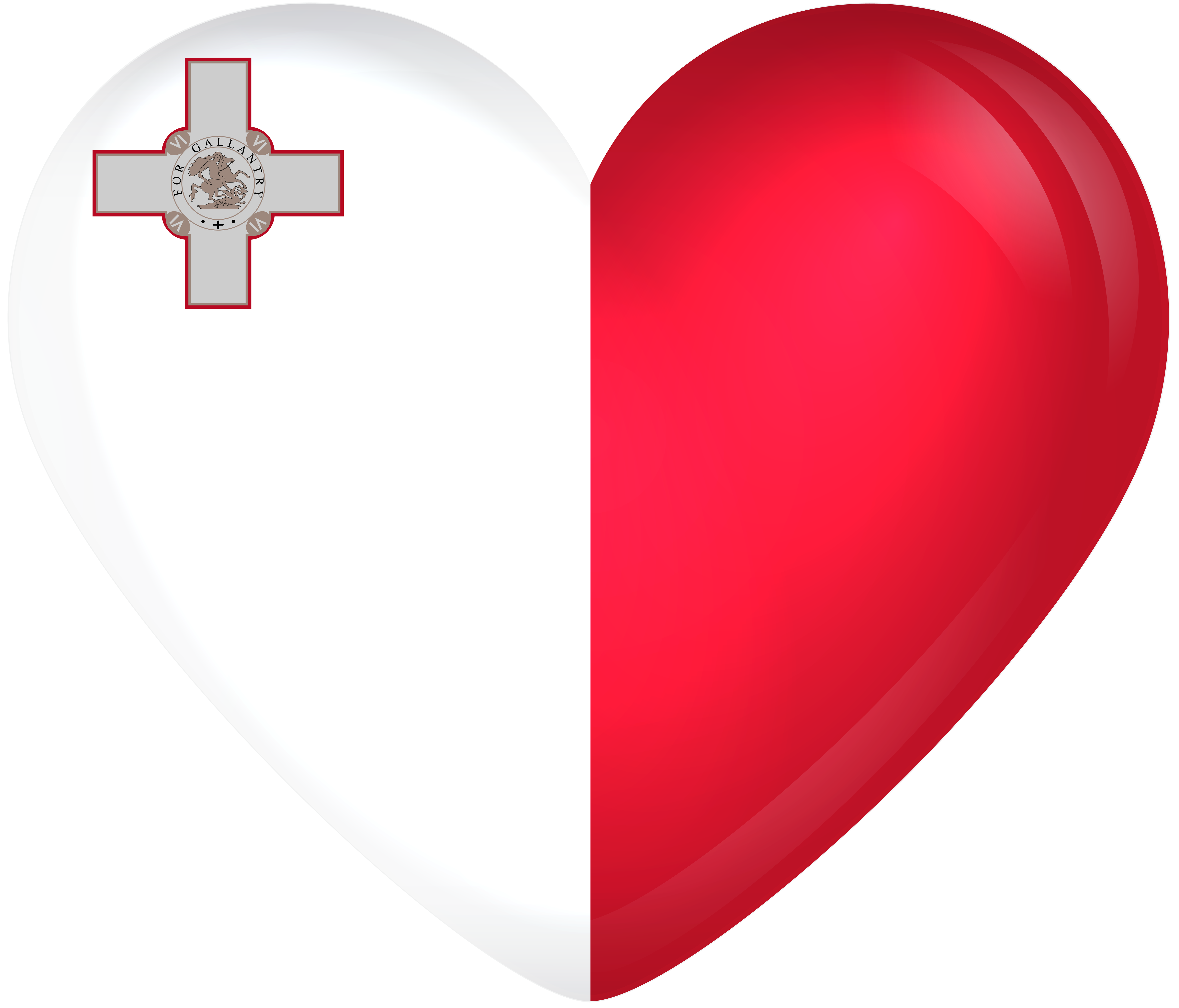 Heart with a cross clipart clip art freeuse stock Malta Large Heart Flag | Gallery Yopriceville - High-Quality Images ... clip art freeuse stock