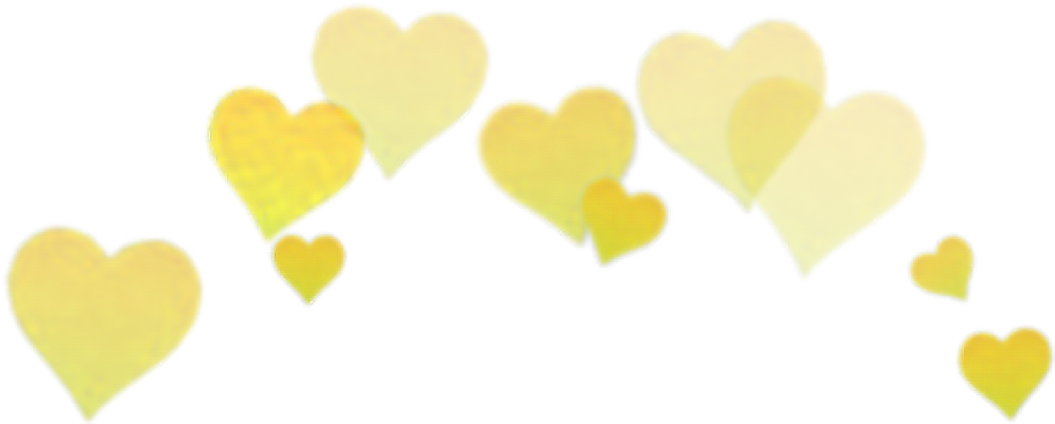 Heart crown clipart picture free stock yellow hearts filter selfie Snapchat snapchat crown... picture free stock