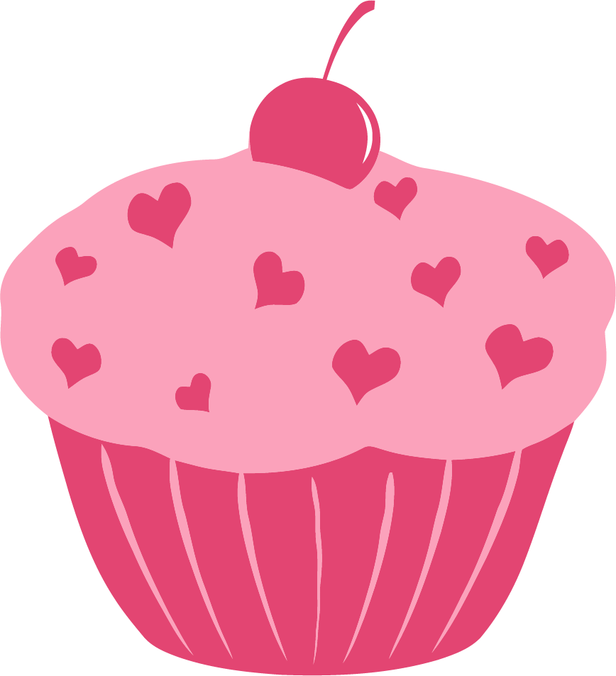 Heart cupcake clipart vector royalty free Cupcake clipart heart ~ Frames ~ Illustrations ~ HD images ~ Photo ... vector royalty free