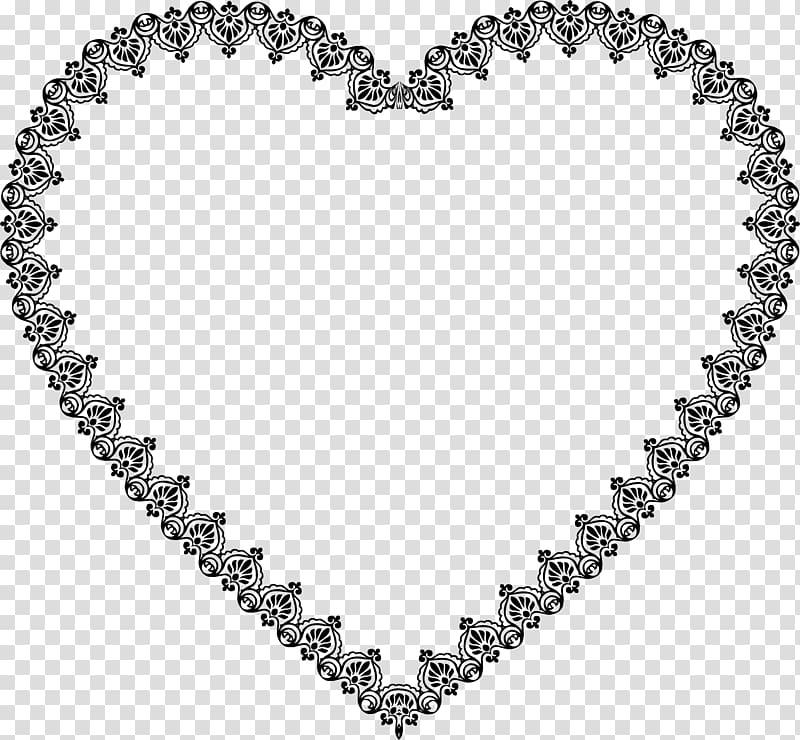 Heart decorative ornaments clipart black and white clip library Heart Decorative arts Ornament Lace, vintage border ... clip library