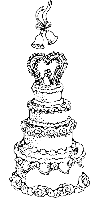 Heart desserts clipart black and white clip transparent library Free Image on Pixabay - Cake, Wedding, Frosting, Decoration ... clip transparent library