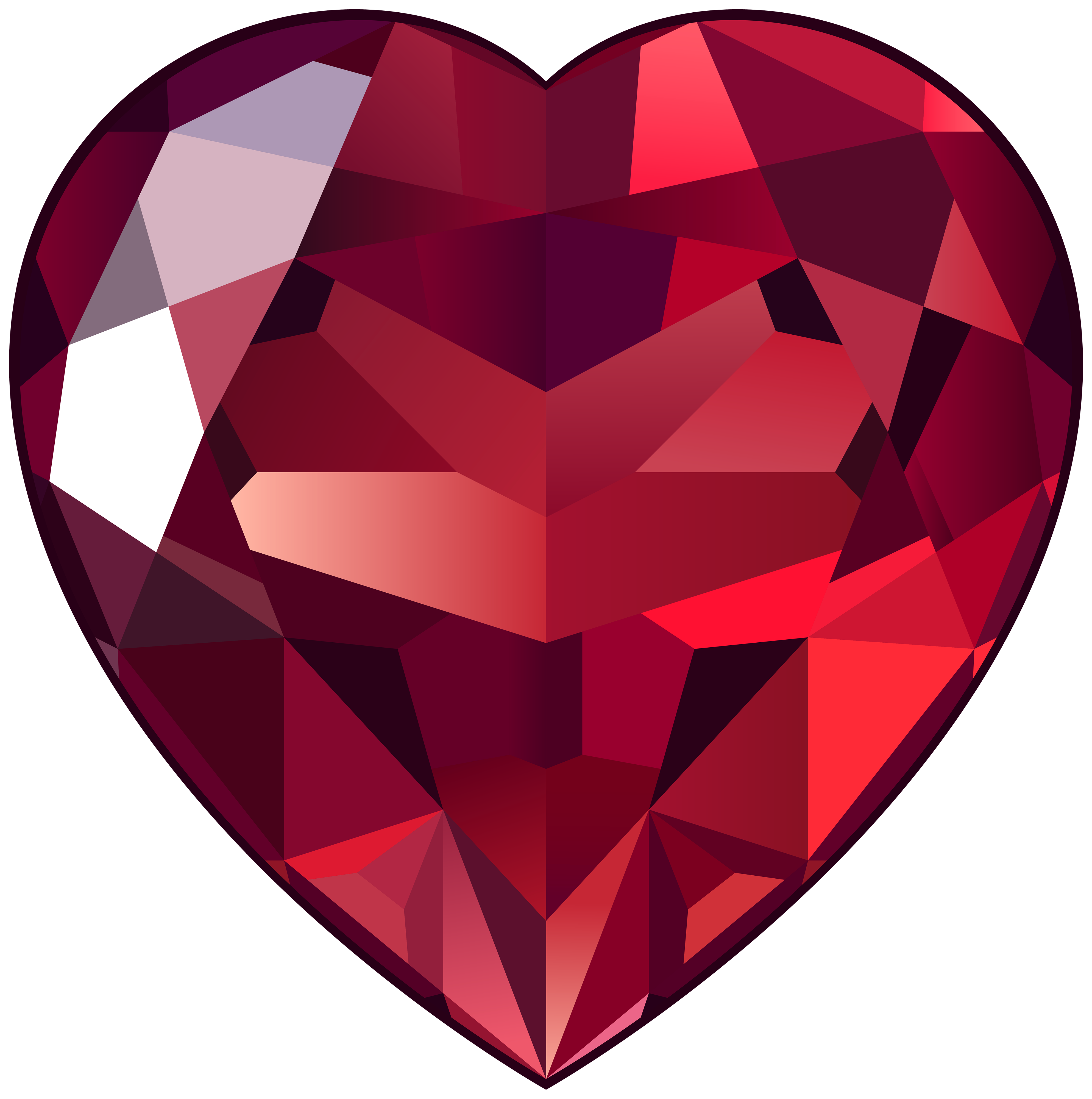 Heart diamond clipart jpg black and white download Ruby Heart PNG Clipart - Best WEB Clipart jpg black and white download