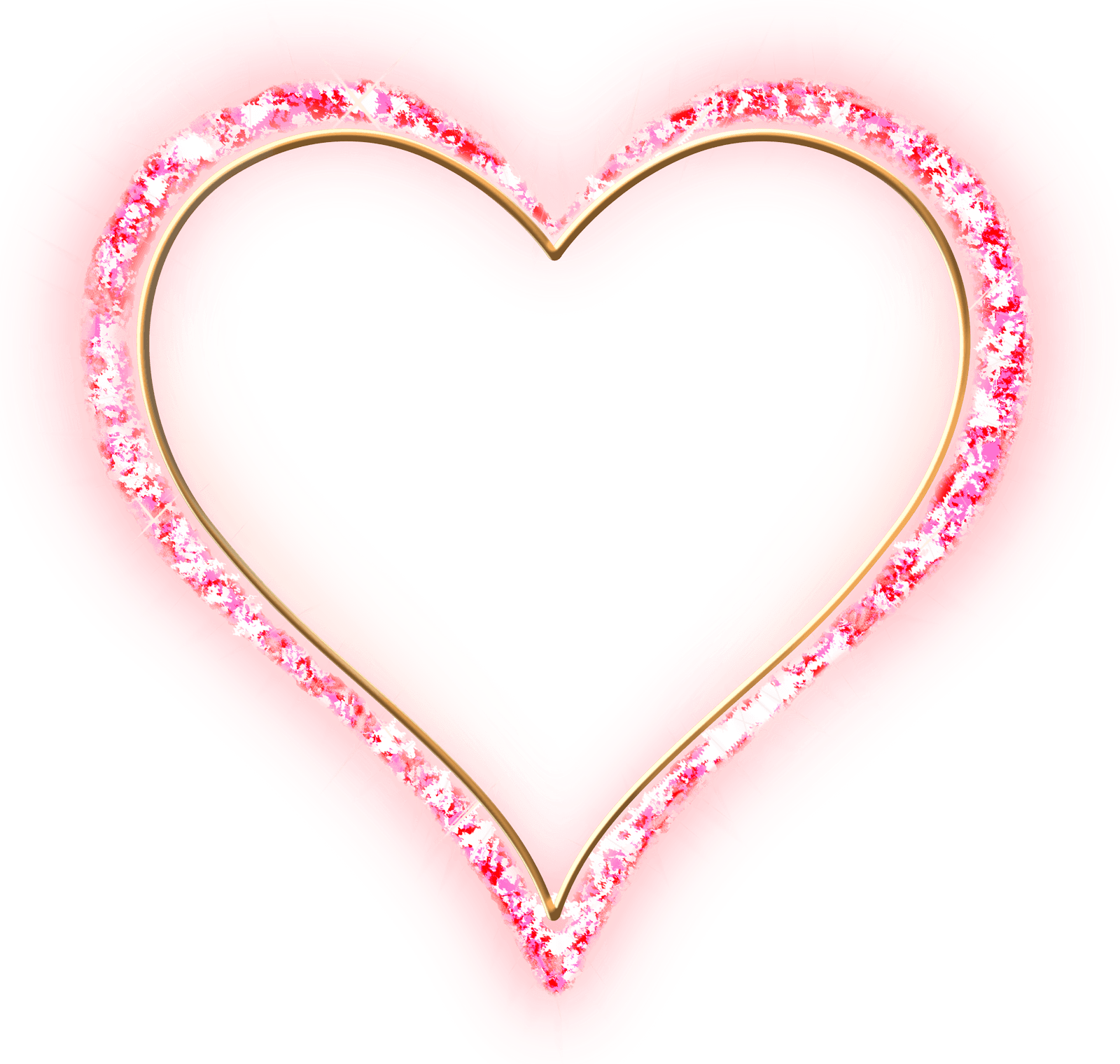 Heart diamond clipart image library stock Pink Diamond Transparent Frame Gold Heart image library stock