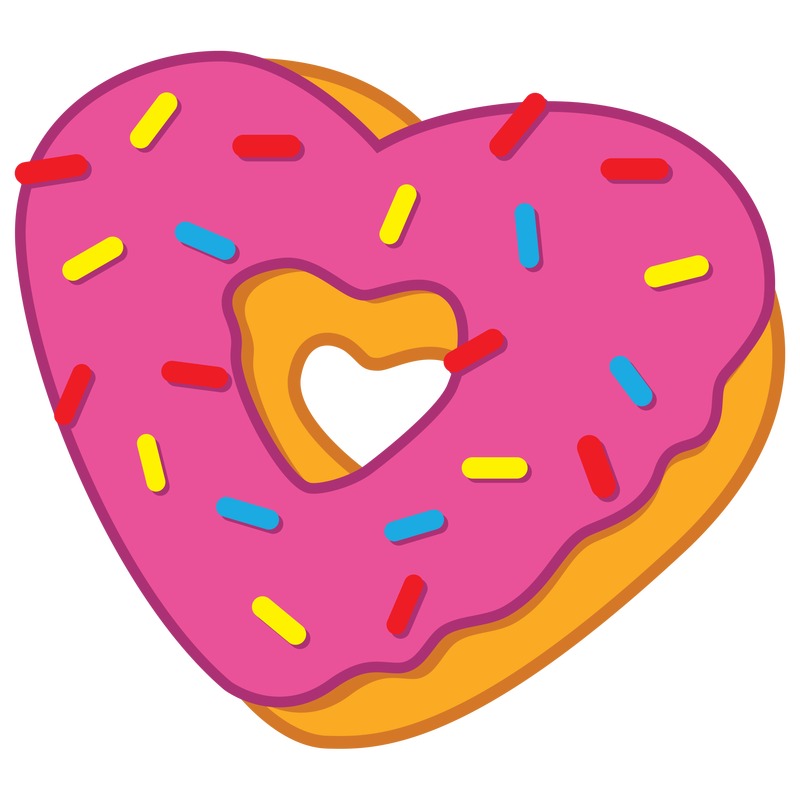 Heart donut clipart jpg transparent library Heart clipart donut ~ Frames ~ Illustrations ~ HD images ~ Photo ... jpg transparent library