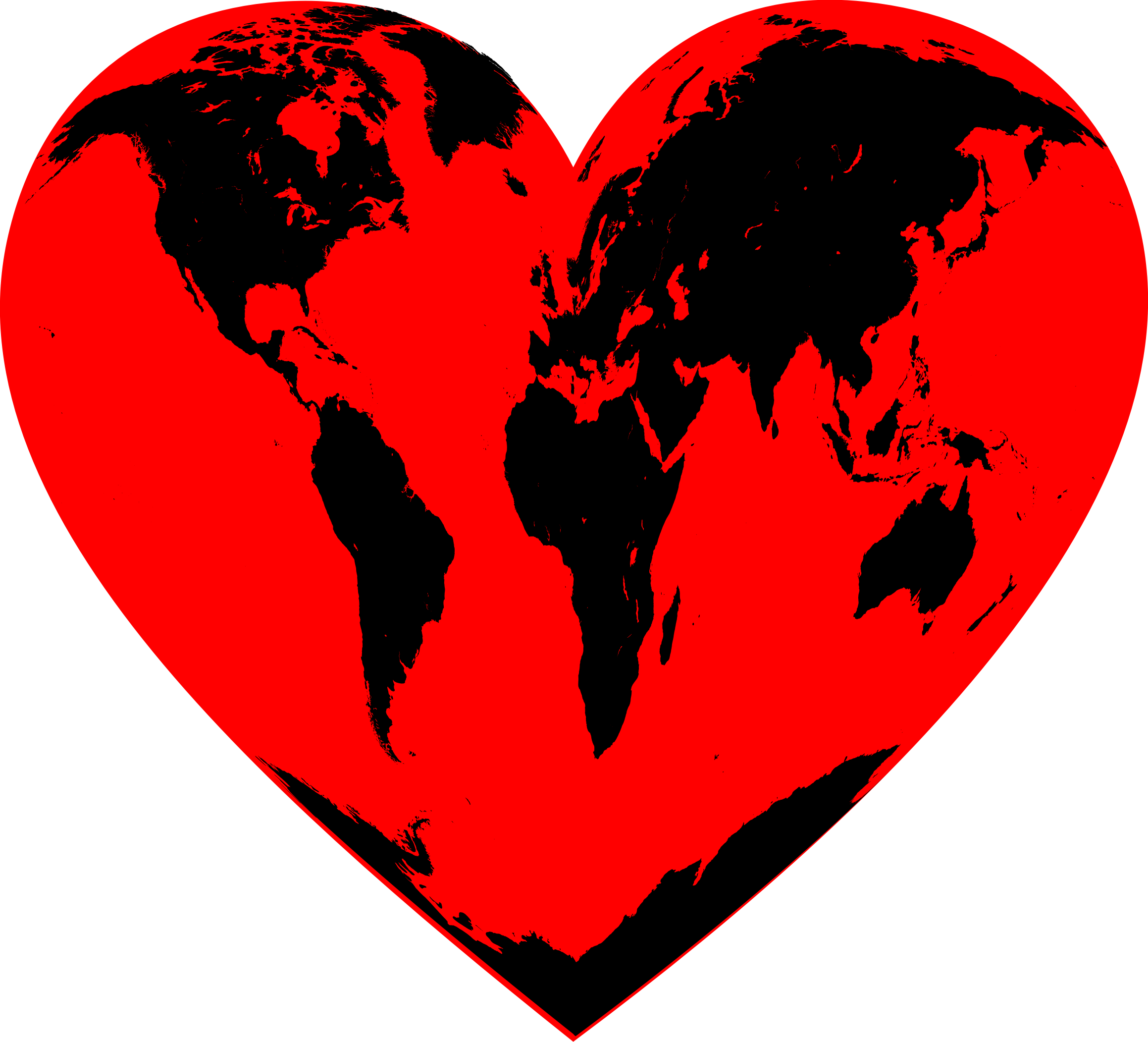 Heart world clipart png library download Clipart - Planet Heart png library download