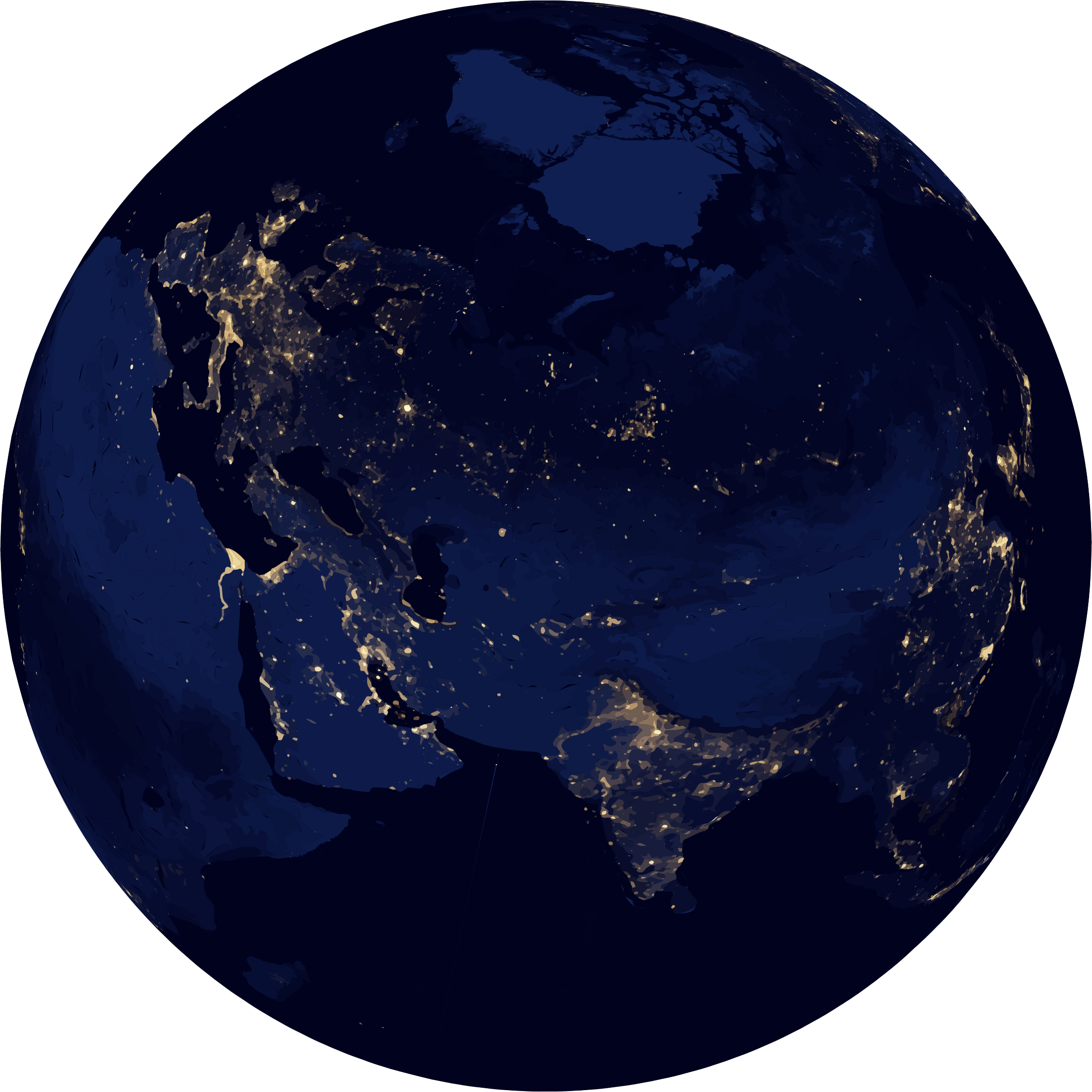 Heart earth clipart graphic free Earth at night clipart - Clipground graphic free