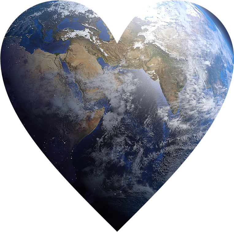 Heart earth clipart svg freeuse library heart earth - Sticker by Fabio Ravera svg freeuse library