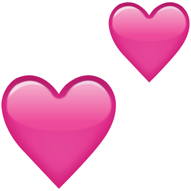 Heart emoji clipart freeuse stock Two Pink Hearts Emoji Png freeuse stock