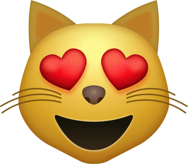 Heart eye emoji clipart