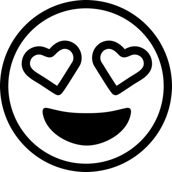 Heart eyes clipart black and white svg library download Emoji Rubber Stamps – Stamptopia svg library download
