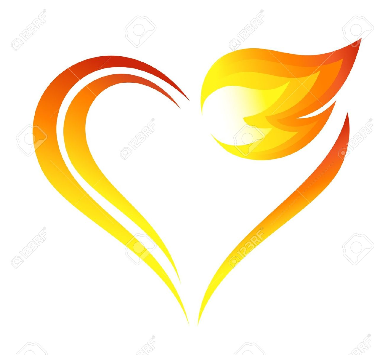 Heart flame clipart png library download Hearts Flame | Free download best Hearts Flame on ClipArtMag.com png library download