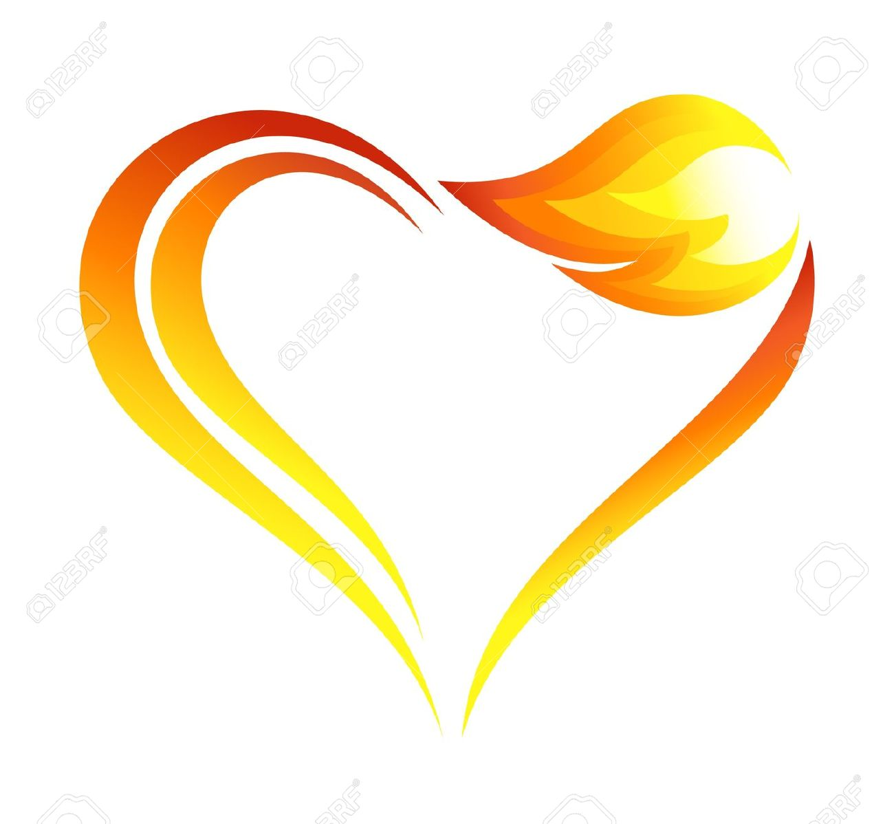 Heart flame clipart clip freeuse Hearts And Flames | Free download best Hearts And Flames on ... clip freeuse