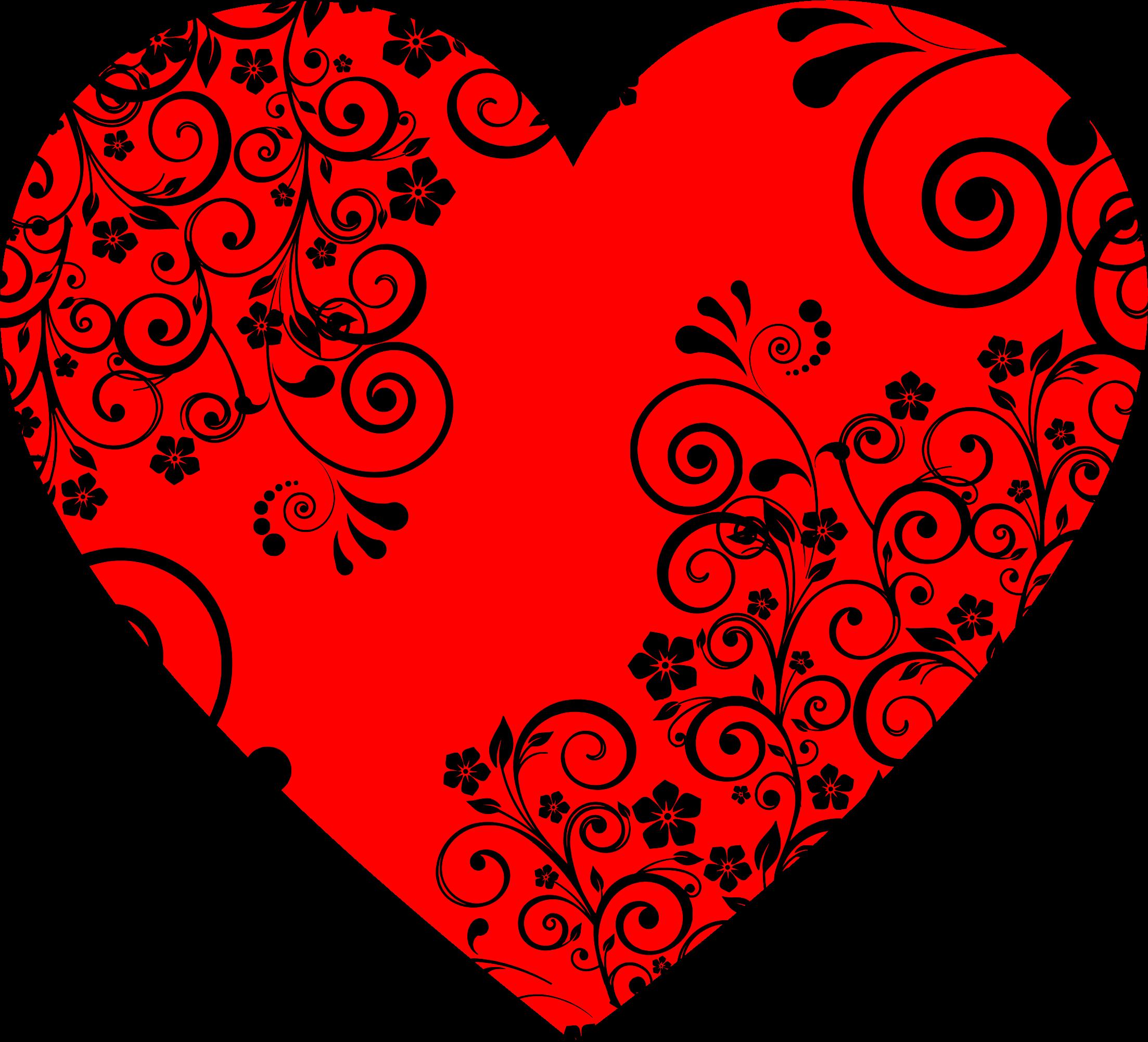 Heart flourish clipart svg transparent Clipart - Floral Flourish Heart svg transparent