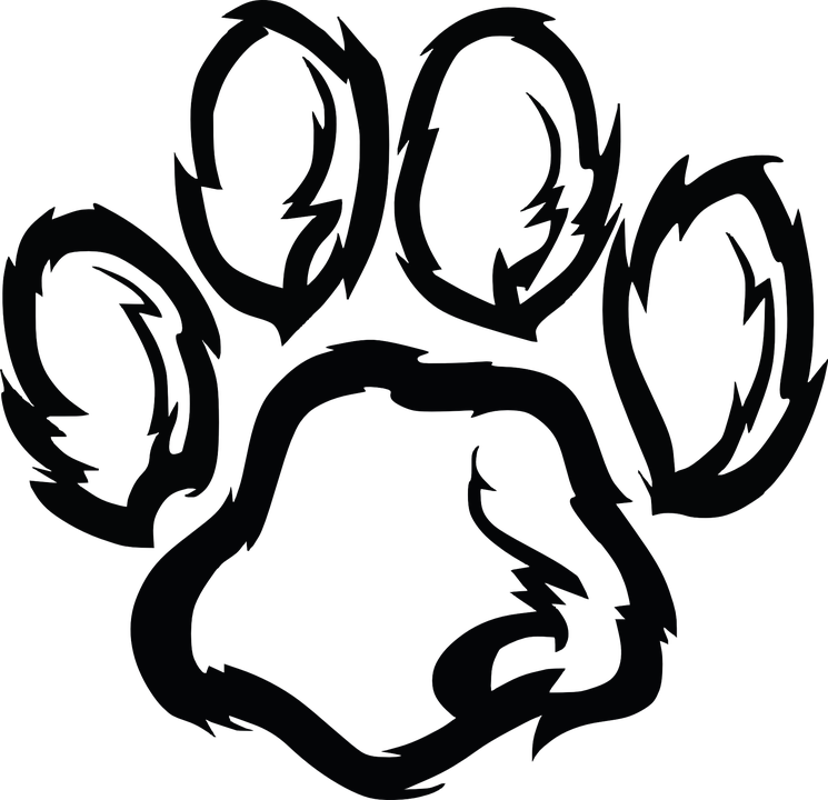 Heart football clipart image black and white stock Tiger Clipart Heart Free collection | Download and share Tiger ... image black and white stock