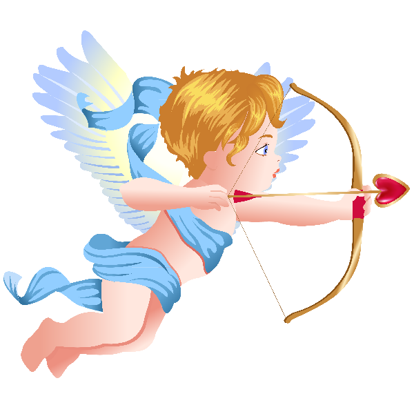 Heart girl clipart vector royalty free library Cupid Boy And Girl - Valentine Images vector royalty free library