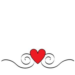 Swirling hearts clipart image Heart Clipart Image: Pretty heart graphic with swirls ... image