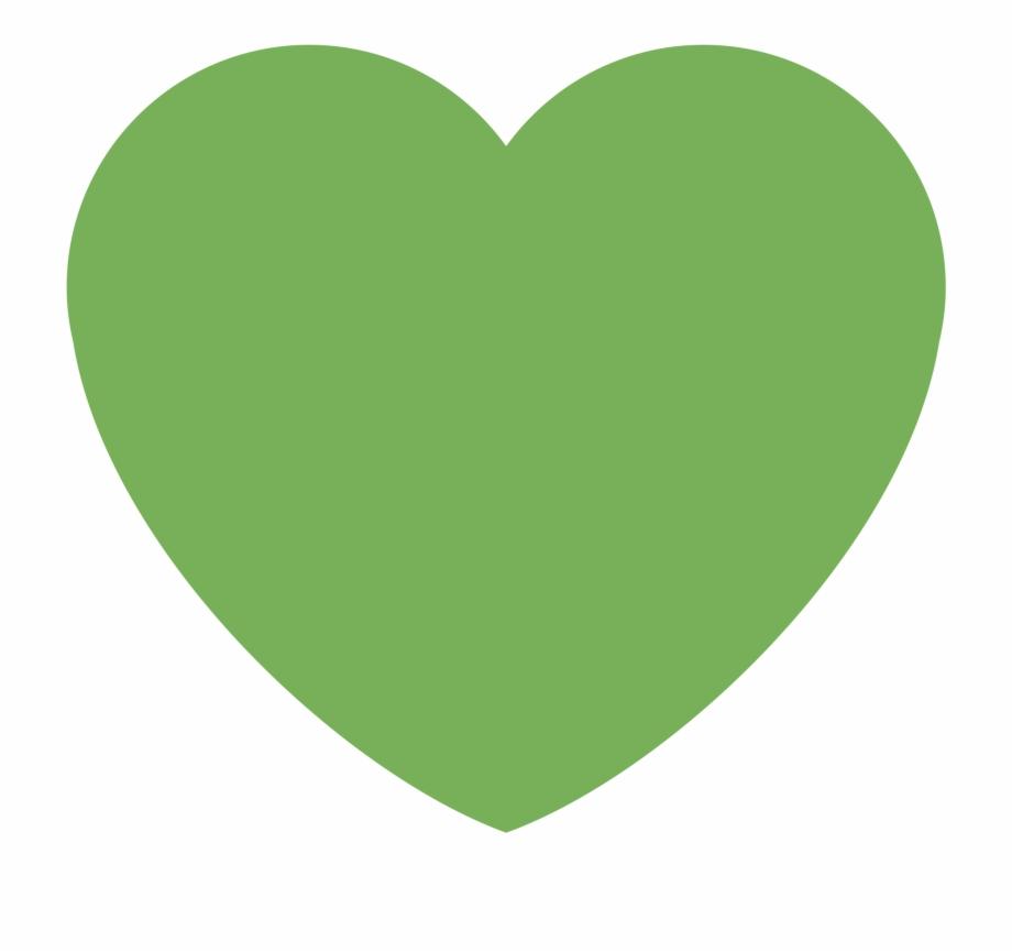 Heart green clipart