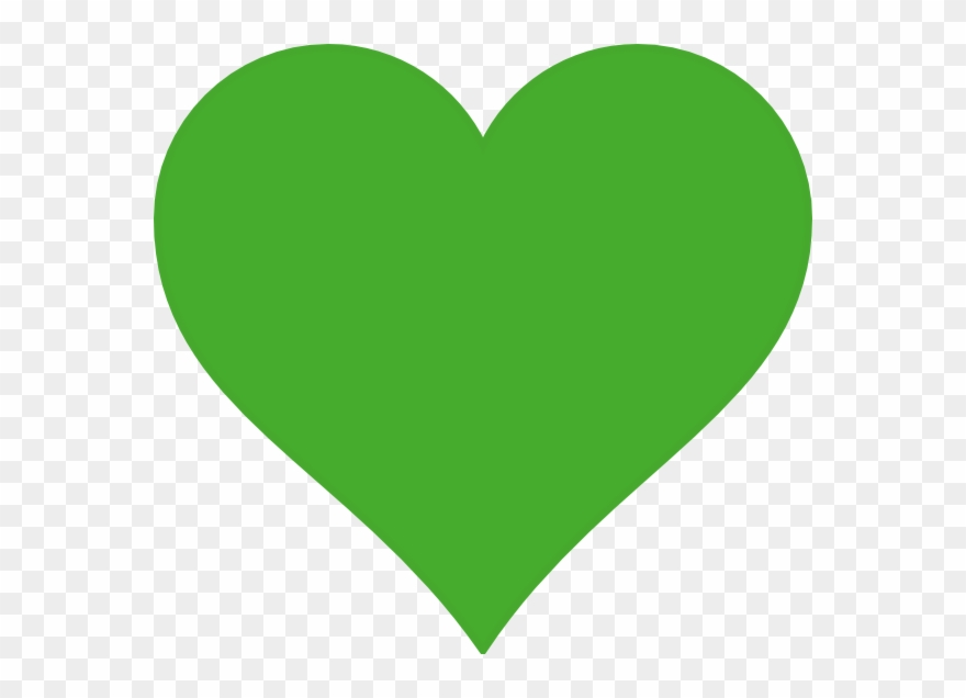 Heart green clipart clip free Lime Heart Clip Art At Clker - Green Heart Transparent ... clip free