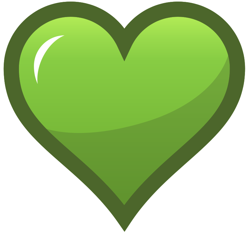 Heart green clipart clip freeuse stock Free Clipart: Green Heart Icon | pianoBrad clip freeuse stock