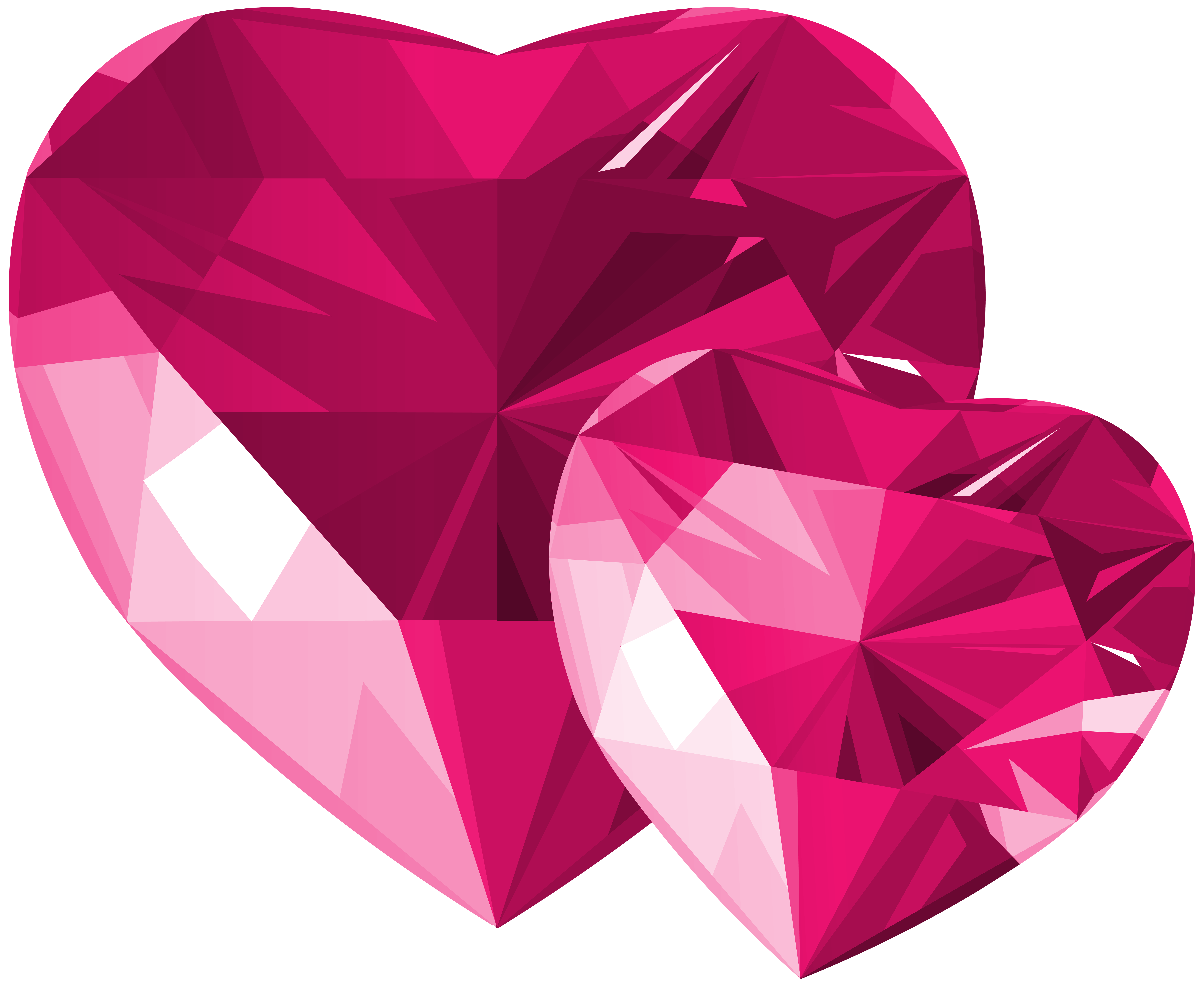 Heart handcuffs clipart jpg royalty free download Diamond Hearts Pink Transparent PNG Clip Art | Gallery Yopriceville ... jpg royalty free download
