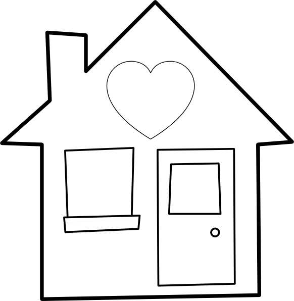 Heart house clipart svg library library Heart Of The Home Clip Art at Clker.com - vector clip art online ... svg library library