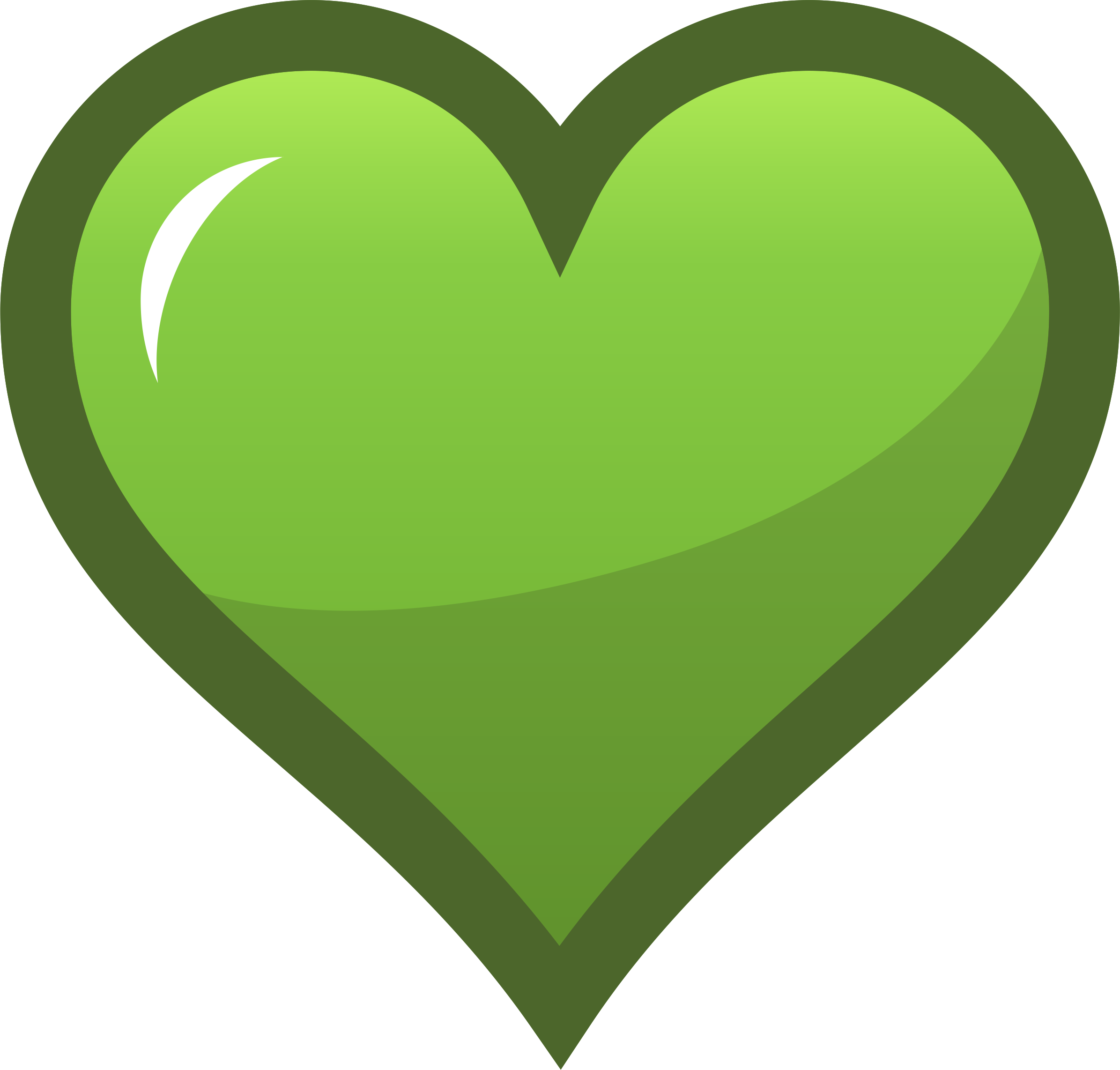 Heart icon clipart graphic transparent download Clipart - Green Heart Icon graphic transparent download