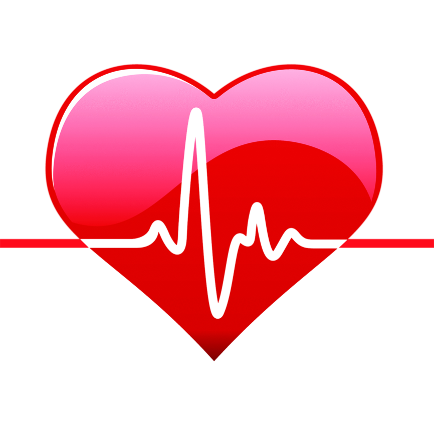 Heart in body clipart clipart black and white Heart Png With Life Line clipart black and white