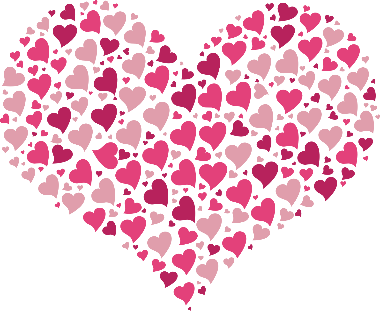 Pattern heart clipart graphic free Clipart - Hearts in Heart graphic free