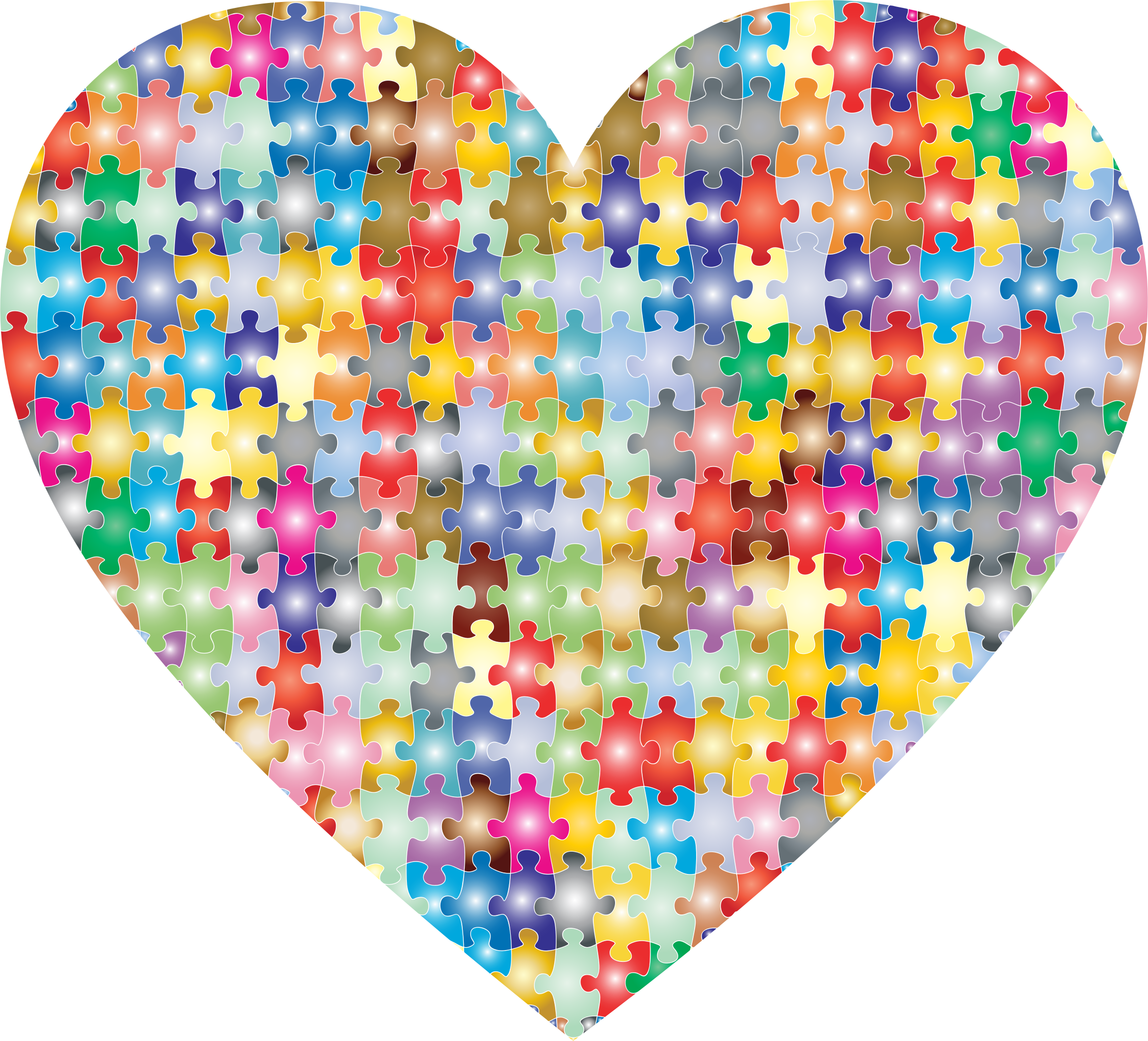 Heart puzzle clipart image free library Clipart - Colorful Puzzle Heart 3 image free library
