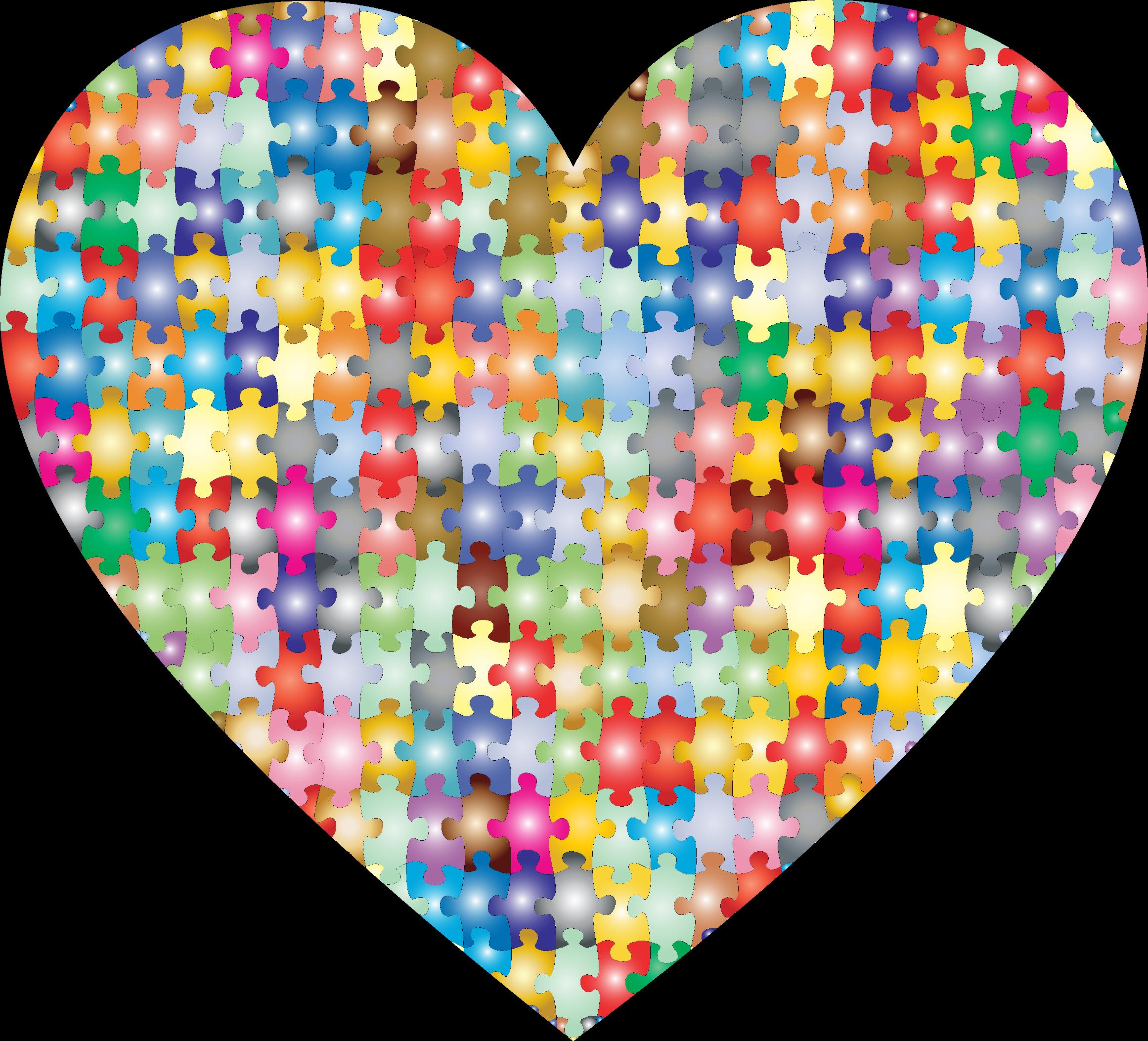 Heart inside a heart clipart svg library library Clipart - Colorful Puzzle Heart 3 svg library library